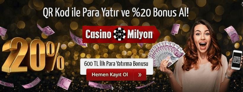 Casinomilyon QR Kod Bonusu